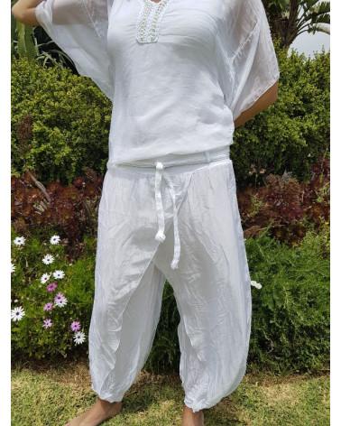 Pantalón de seda.