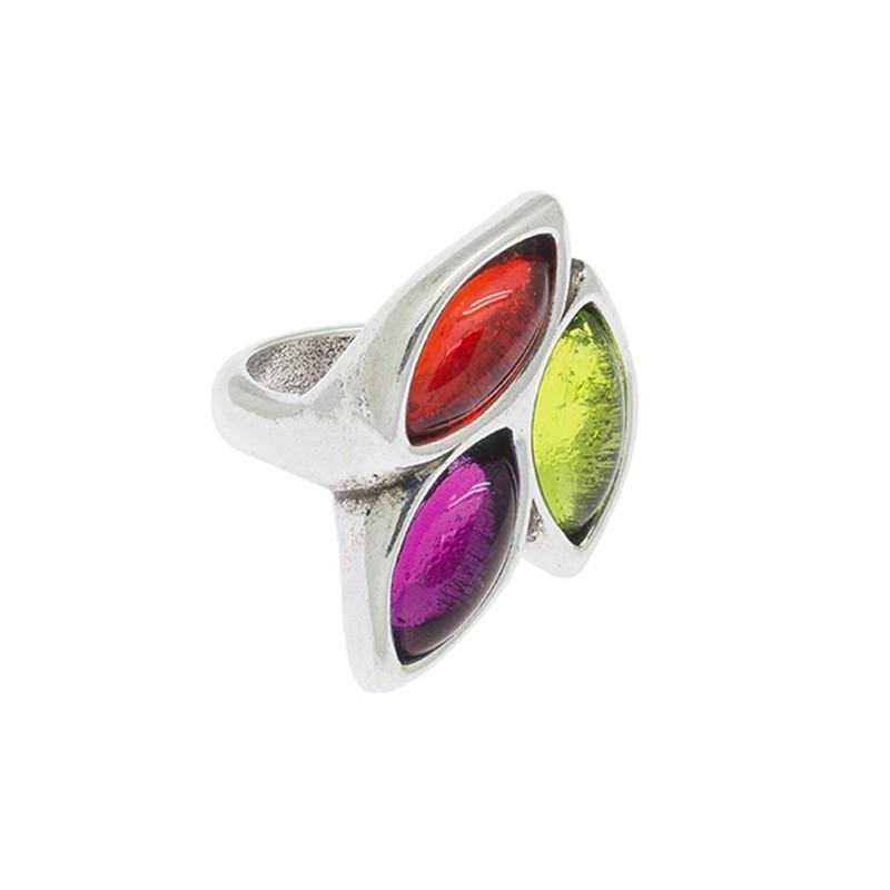 Anillo cicl n 3 lagrimas cristal de murano marca cicl n para mujer ref 171510 - Anillo cristal murano ...