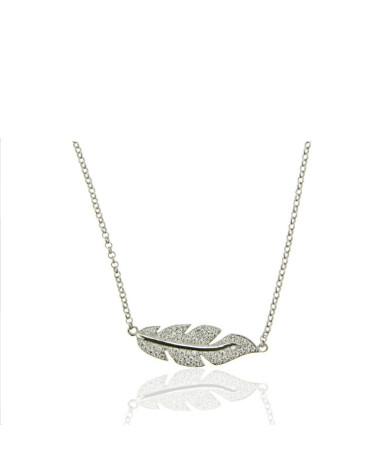 Gargantilla de plata rodiada de infinito con circonita microengastada