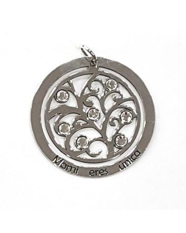 Colgante en plata de arbol de la vida personalizado