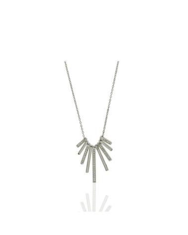 Gargantilla de plata palos con circonita