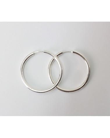 Aro de plata 3 x 30 mm