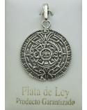 Colgante de plata calendario azteca