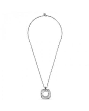 Colgante con cadena larga y circulo de cristal de murano (PL)