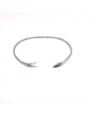 Pulsera plata de ley 925 rigida 2 circulos diametro 60mm