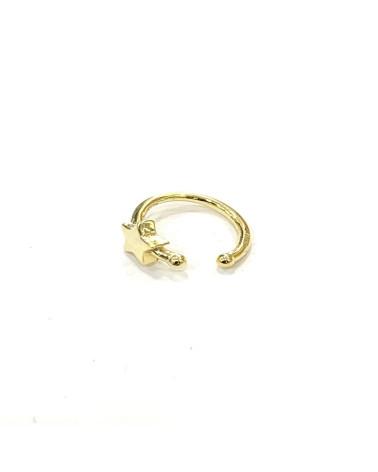 Cartilago de plata de ley 925 chapado en oro
