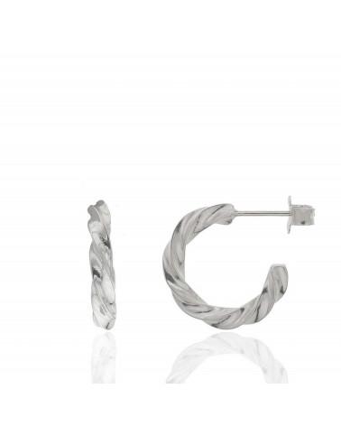Cartilago de plata de ley 925 rodiado cadena y estrella (Unidad)