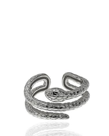 Anillo de plata de Serpiente