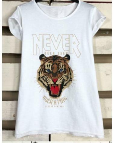 Camiseta tigre never